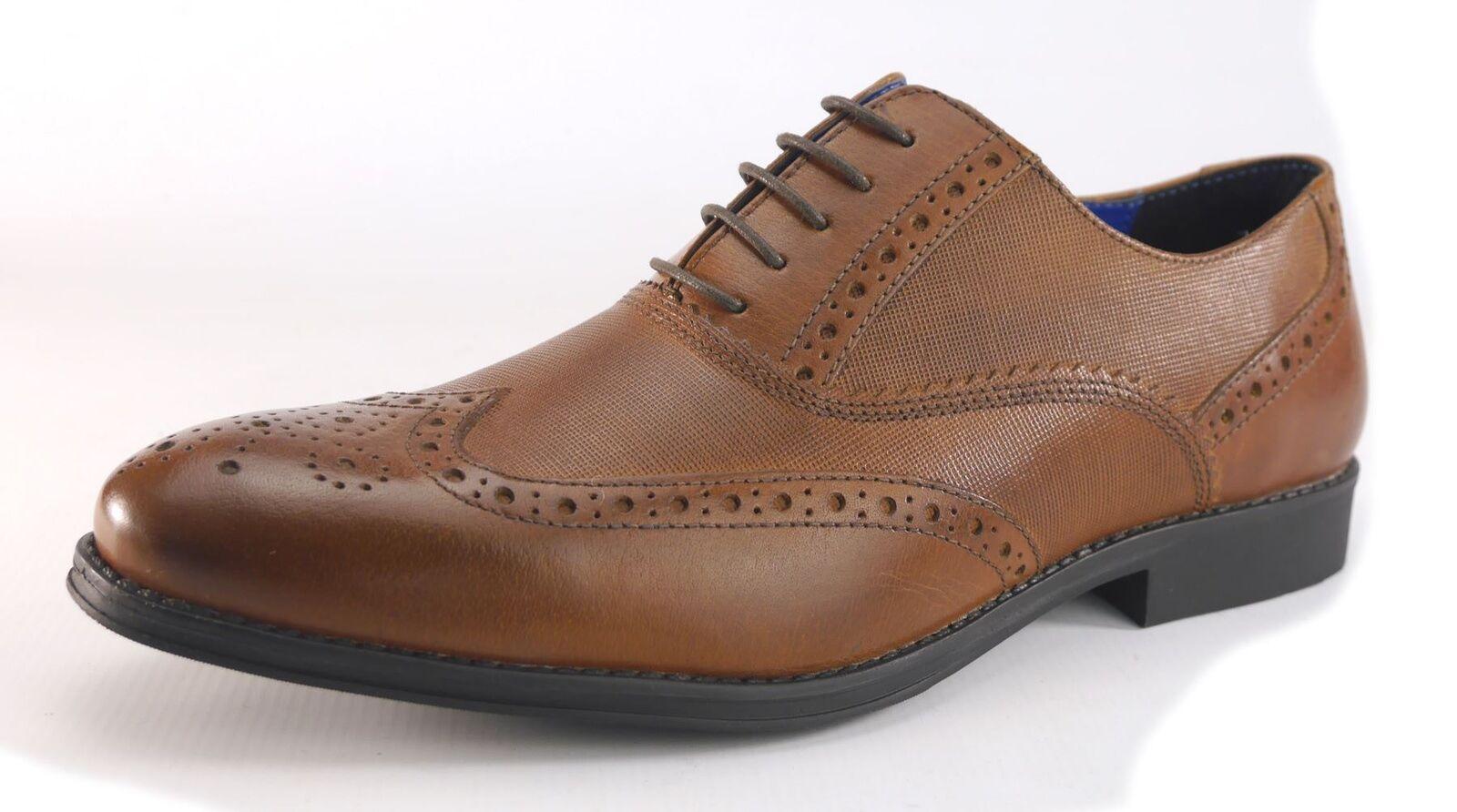 Rojo taoe Hombre Hombre Formal Brogue Cordones Zapatos Hombre Hombre Marrón 42091e