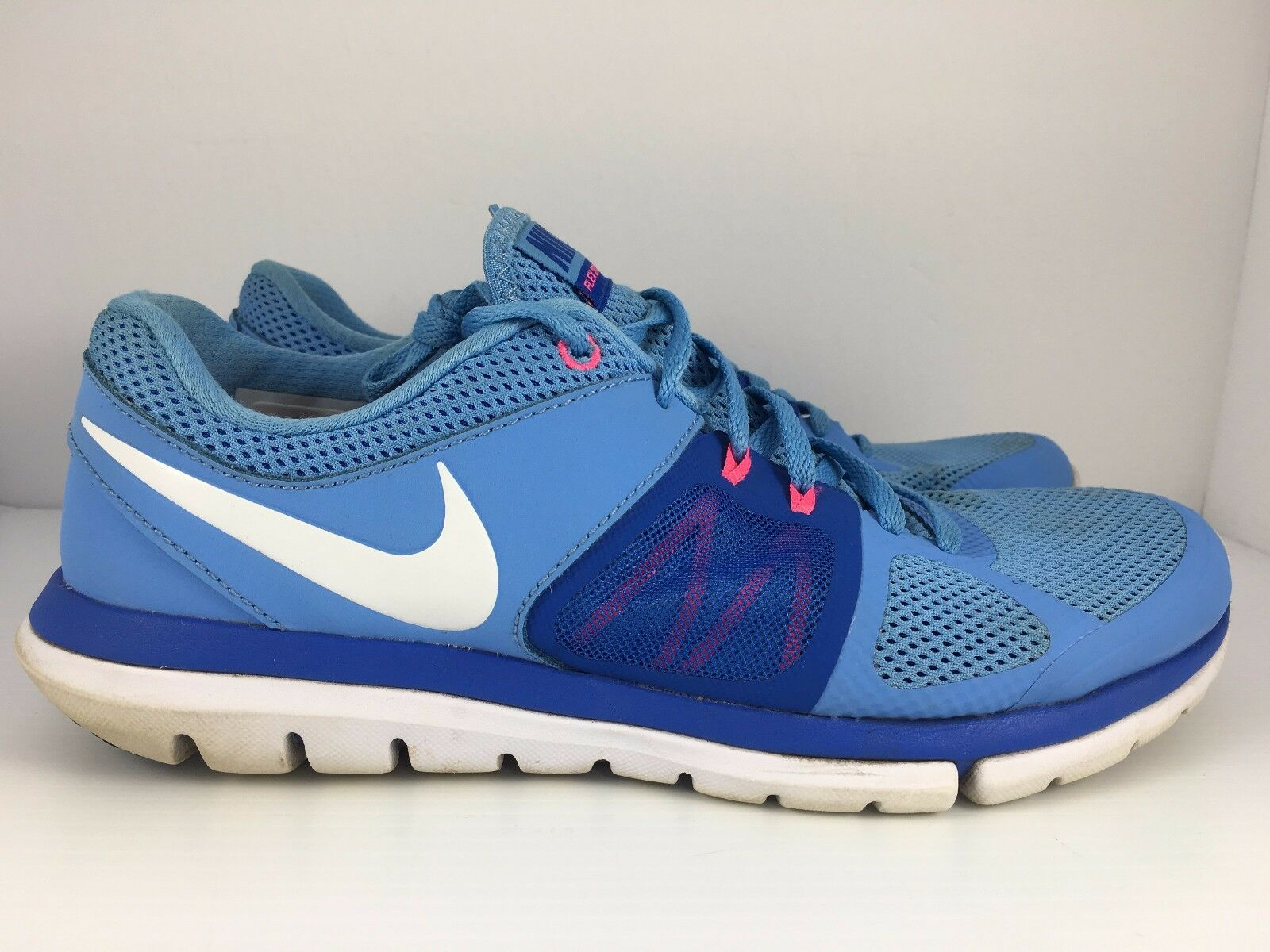 NIKE Flex 2014 Run Women US 10 Blue + White Athletic Running Trainers Shoes  J39 Brand discount
