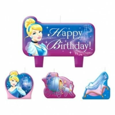 Fabulous Cinderella 4 Pc Candle Set Cake Toppers Birthday Party Candles Birthday Cards Printable Inklcafe Filternl