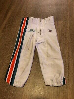 hieno tyyli halpa myynti paras aito Reebok Miami Dolphins Football Pants Size 30 Game Used ...