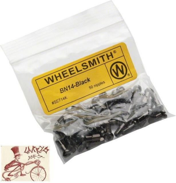 WHEELSMITH 2.0 X 12MM SILVER BRASS BICYCLE SPOKE NIPPLES--PACK OF 50