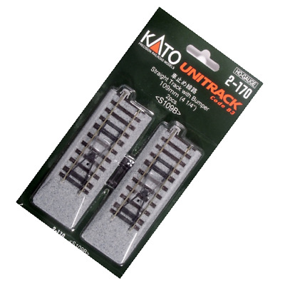 HO Scale Kato Unitrack 2 pack of Bumpers wood ties
