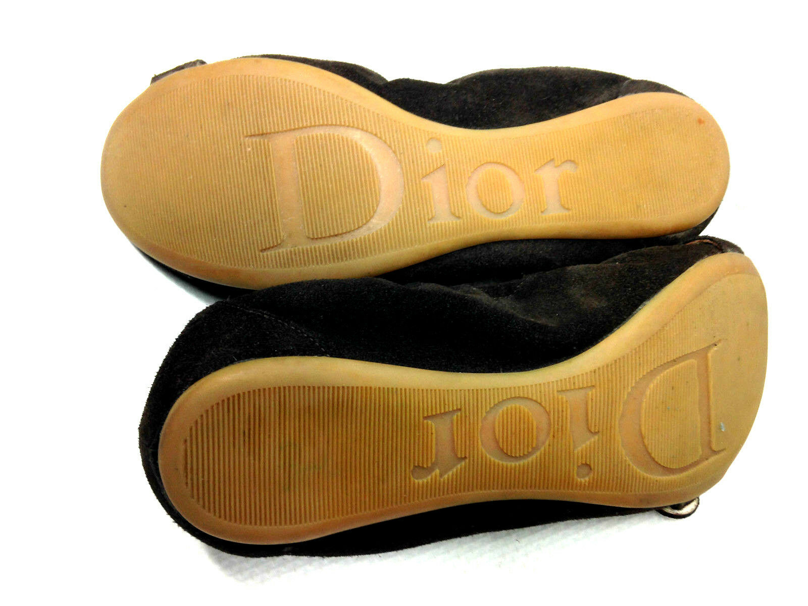 Dior Flat Casual Brow US.6-6.5 Suede Woman's Shoes Size US.6-6.5 Brow EU.36.5 a67788
