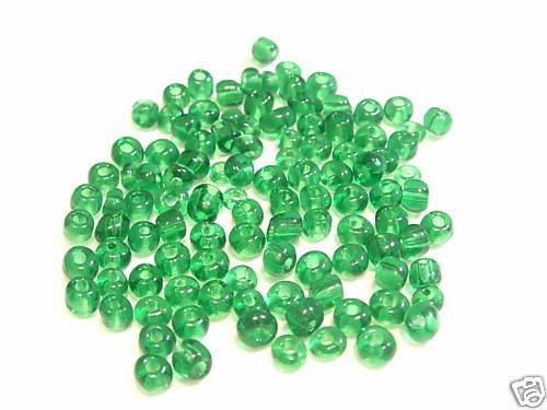Tamaño 4.7 Mm Cristal Seed Beads 260 + 20 Gms # 01 Esmeralda