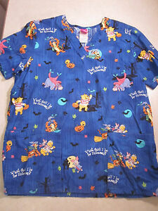 image is loading small disney pooh halloween scrub top size s