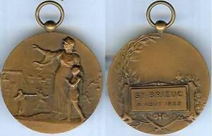 HonnêTe Gymnastique - Saint-brieuc 1922 Concours De Gymnastique C. Charles D=40 Mm De Nouvelles VariéTéS Sont Introduites Les Unes AprèS Les Autres