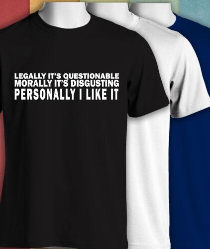 il est.. moralement - drôle à manches courtes t-shirts 352 Juridiquement elle est discutable