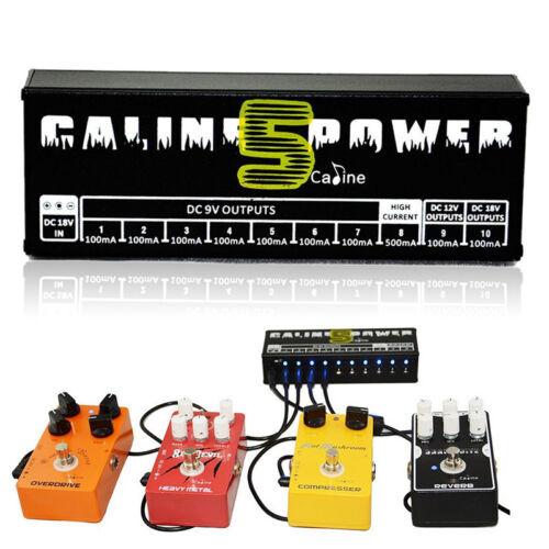 EU Plug Caline CP-05 Guitar Effect Pedal Power Supply 10CH Output 9v/12v/18v