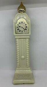 Avon Fragrance Hours Cologne Milk Glass Bottle Vintage Empty Grandfather Clock