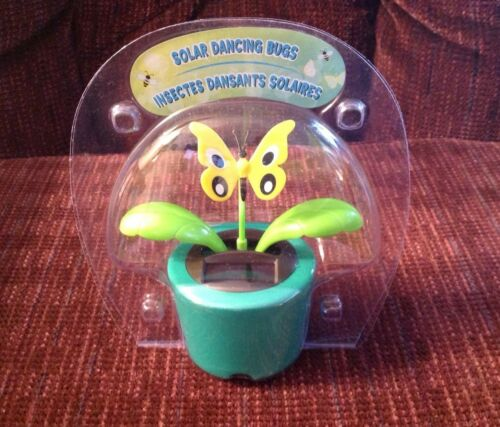 Details about  /Solar Figurine Dancing Butterfly Flower Flip Flop Leaves Sun Powered