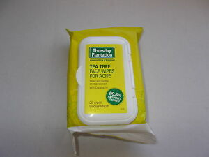 Thursday Plantation - Tea Tree Face Wipes for Acne (25 Wipes) Men Cleansing & Non-Foaming Gel 5oz