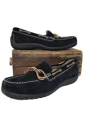 Lands End suede loafers driving mocs