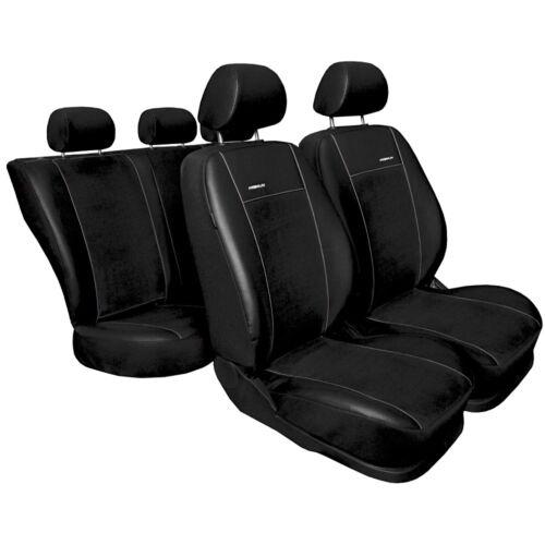 Maß Sitzbezüge Schonbezüge Kunstleder schwarz Suzuki Swift III ab 2005
