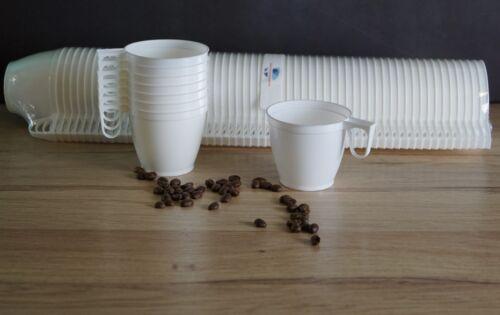 Kaffeebecher 1200 Einweg Tassen Kaffee Kaffeetassen plastik weiß 180ml