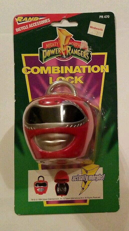 Mighty Morphin Power Rangers Cerradura de Combinación Nuevo y Sellado