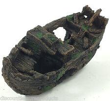 Aquarium Sunken Galleon Shipwreck Ornament Decoration 28cm Wreck #2282D