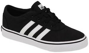 Details about Adidas Kid's Adi-Ease Shoe - Canvas Black / White - New