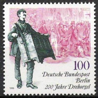 Postfrisch Leierkasten 1990 Vornehm Berlin Nr.872 ** 200 Jahre Drehorgel