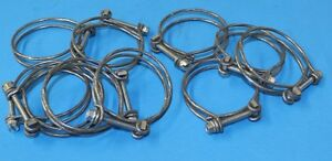 New Piper, Continental Hose Clamps, Early Style, PN 454-895. YOU GET 10 :)