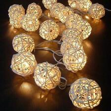 20 LED Color Rattan Ball String Fairy Lights For Xmas Wedding Party Hot