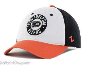 5a57187f441 Philadelphia Flyers Zephyr Circle Trey NHL Team Logo Hockey Cap Hat ...