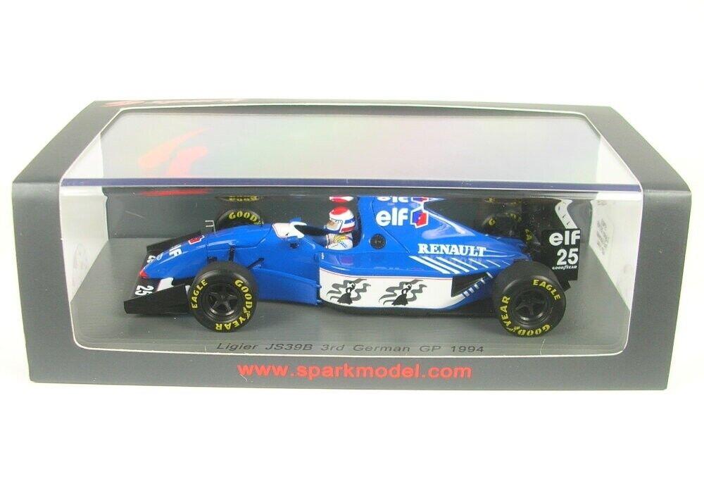 Ligier JS39B No.25 3rd German Gp Formula 1 1994 (Eric Bernard)