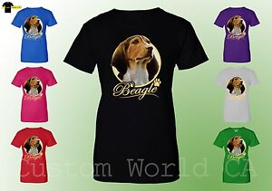 6d8d9ed1d328 Women T-Shirt - Beagle Dog Image Puppies Very Cute Dogs Shirts for ...