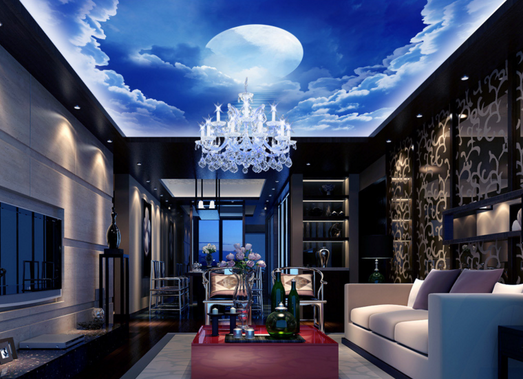 3D Moon Clouds Stairs 7188 Wall Paper Wall Print Decal Wall Deco AJ WALLPAPER