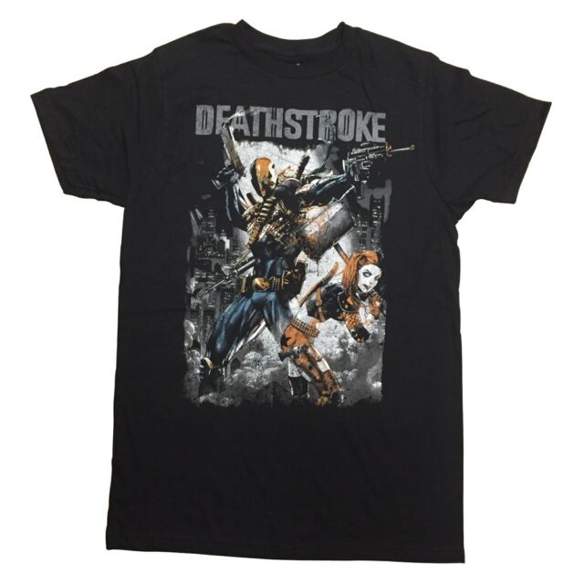 Deathstroke And Harley Quinn Suicide Squad Premium Licensed Adult T Shirt