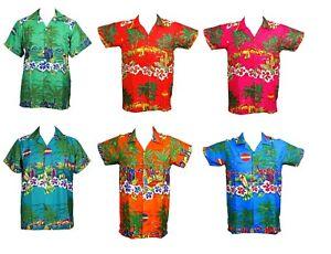 Para-hombres-Camisa-Hawaiana-Stag-Playa-Hawai-Aloha-fiesta-de-vacaciones-de-verano-S-XXL-D4