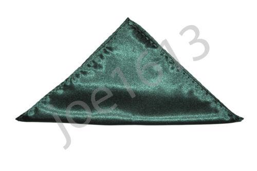 Forest Green Men/'s Classic Hanky Handkerchi/_ef Pocket Square Tie Squares PK31