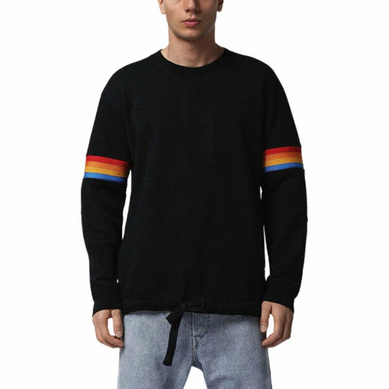 DIESEL S GAIL FELPA Mens Sweatshirt Crew Neck Pullover Cotton Jumper Cardigan
