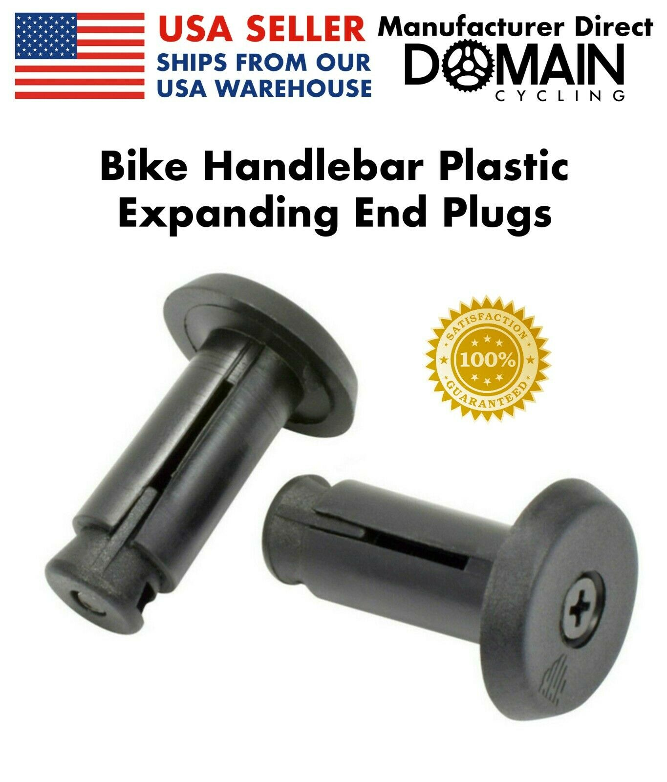 Tough Plastic Barend Plugs for Bike Scooter Grips 200x Handle Bar End Caps