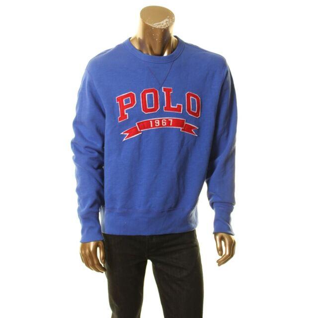 Polo Ralph Lauren half-zip sweater sweatshirt varsity patch logo XL MSRP $125