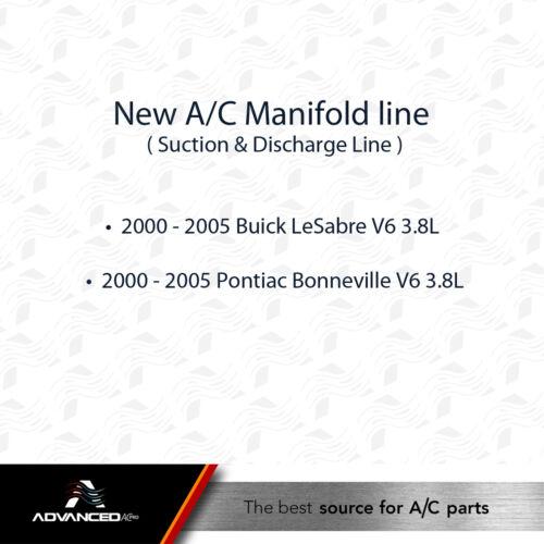 AC A//C Manifold Line Fits 2000-2005 Buick LeSabre Pontiac Bonneville V6