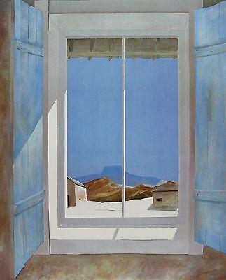 """James Harrill, """"Autumn Sunlight, Pedernal"""", matted print,.6.75hx5.5w image"""