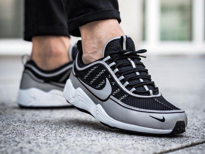 Nike Air Zoom Spiridon '16 Running schuhe 3M Reflective Silber UK 10.5 EU 45.5