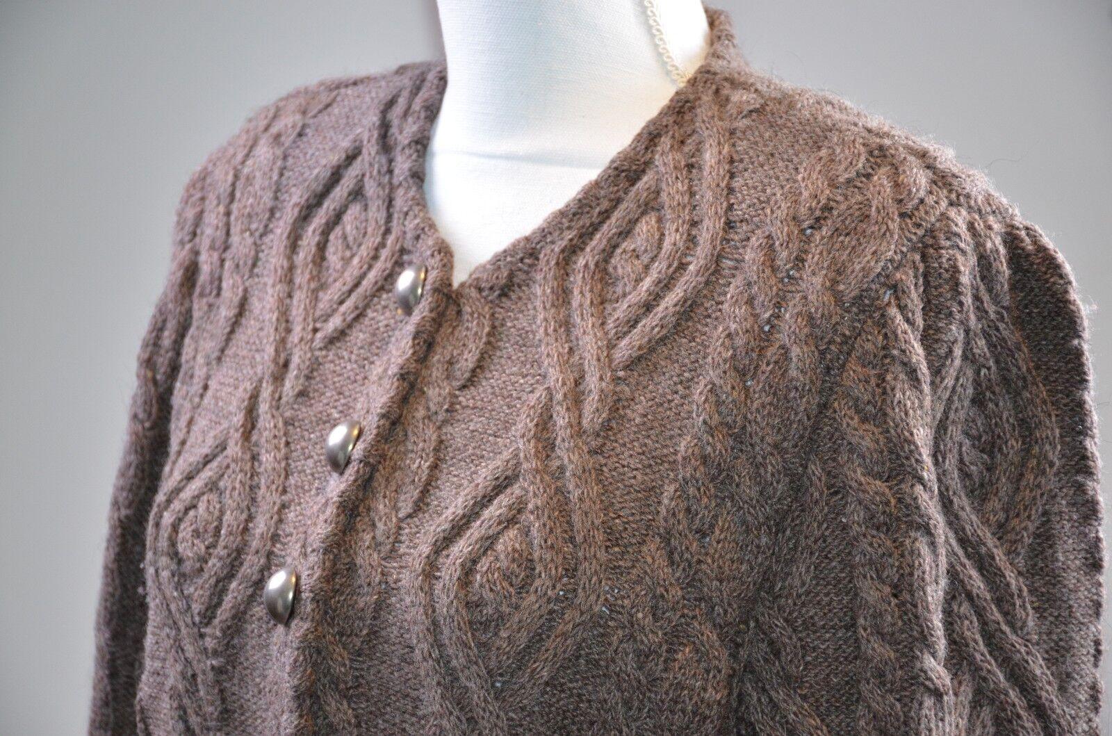 Steffner Country Women's Sweater Sweater Sweater Sz 40 Eu Knit Button Down Wool Alpaca 8 US Warm 5df8a9