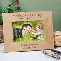 Personalized First Fathers Day Picture Frame My Ist Fathers Day Wood Photo Frame