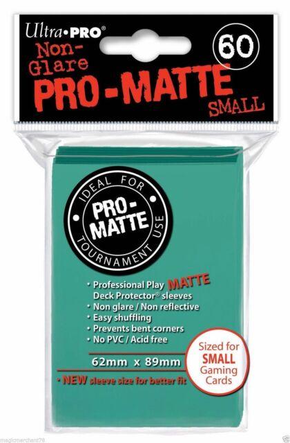 60 Sleeves YuGiOh PRO MATTE SMALL AQUA Verde Acqua Bustine Protettive Ultra Pro