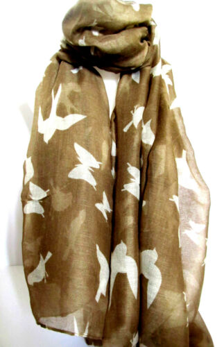 Butterfly and Birds Animal Print New Trend Scarf Stole Wrap Shawl Hijab