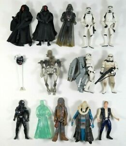 LOT of 13 Vtg 1990's Star Wars Action Figures Hasbro Kenner