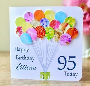 Image Is Loading Personalised 95th Birthday Card Handmade Age 95