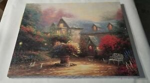 THOMAS-KINKADE-OIL-ON-CANVAS-16X20-BLESSINGS-OF-SPRING