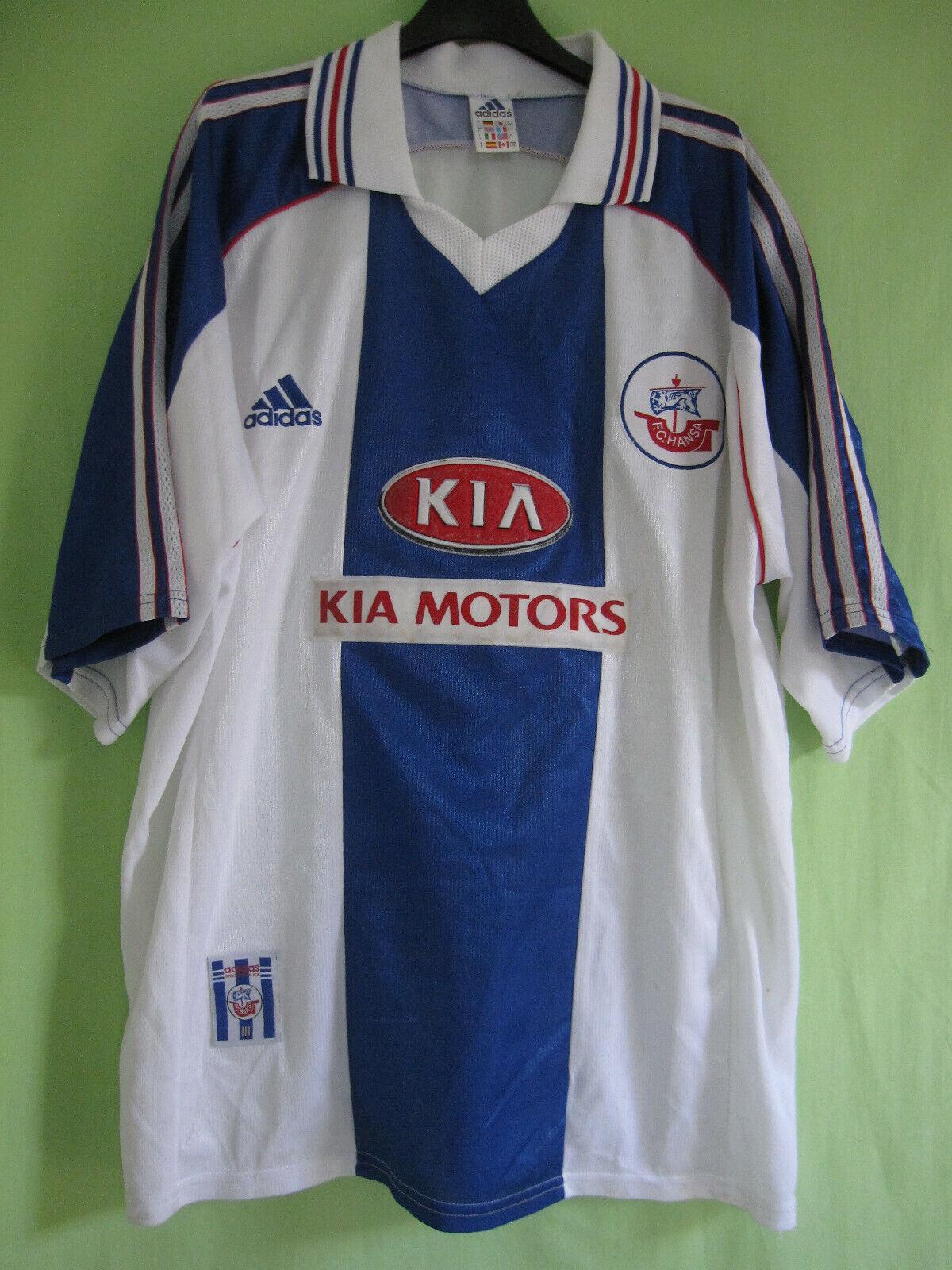 Maillot Hansa Rostock Fc Adidas Kia Motors vintage 1999 2000 Jersey