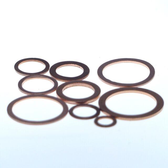 Dichtscheibe aus Kupfer 10x14x1 mm 25 Stück
