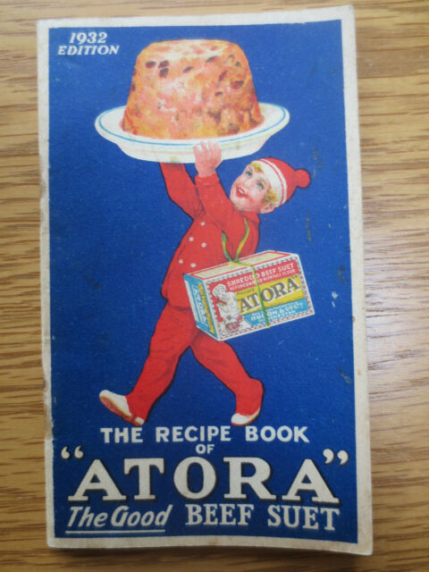 Vintage Cookery Book 1932  ATORA Suet Recipes Puddings Dumplings OLD Recipe Cook