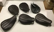 2110/BRLR Harley Davidson Brown Leather Ribbed Patten Solo Seat (Loc:Ts)