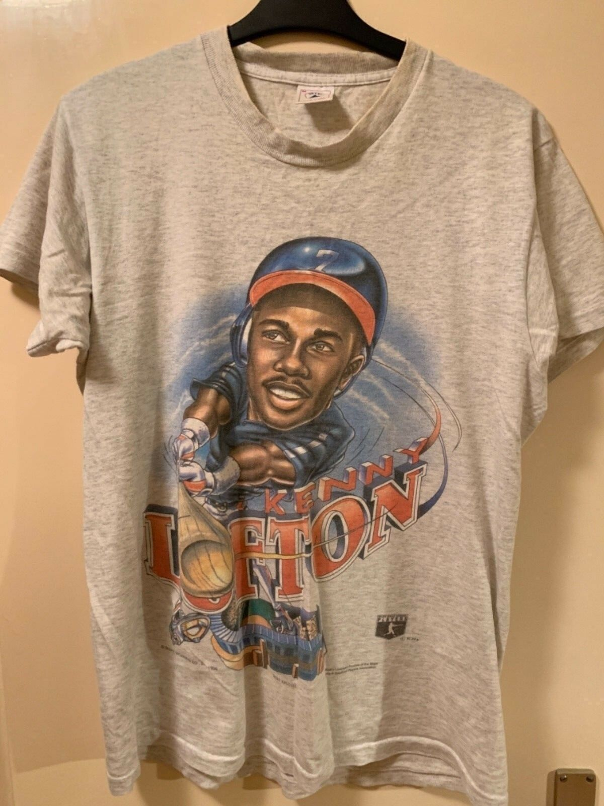 Cleveland Indians Vintage Kenny Lofton 1996 Caricature Shirt MEDIUM