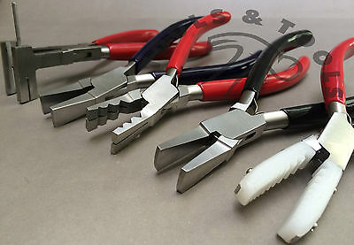 5 PCS PLIERS COIL CUTTING TUBE HOLDING DUCK BILLED JEWELRY CRAFTS SINGLE/ SET